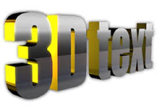3D Text Effect Generator Create 3D logos design 3D
