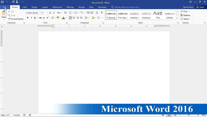 Logo design in microsoft word