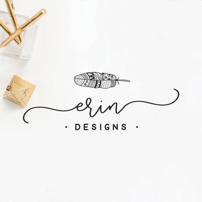 Bohemian Style Logo Design Logo Clipart Frame Shop