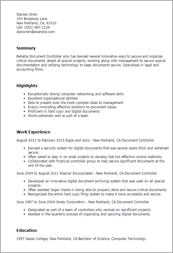 Corporate controller cover letter