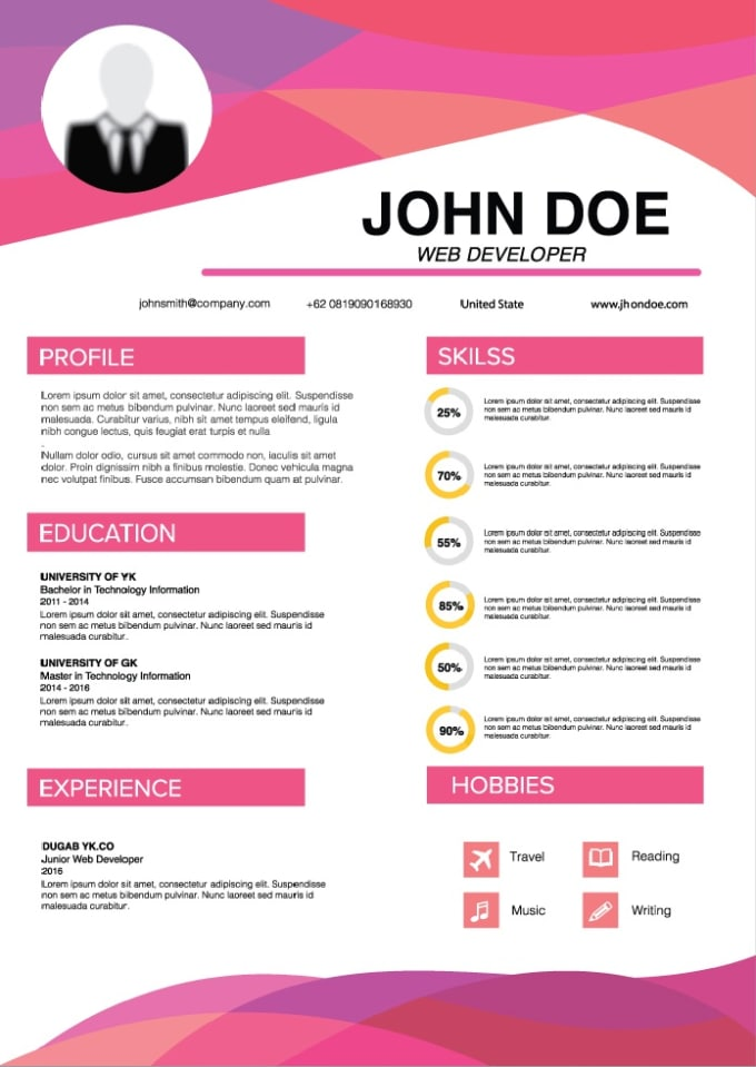 Making infographic resume