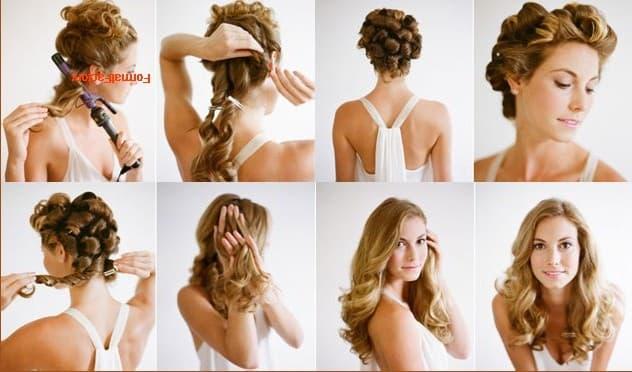учимся делать прически на длинные волосы видео