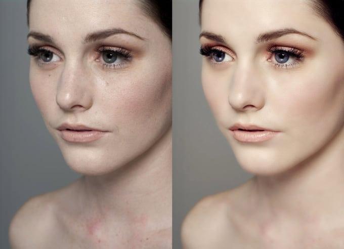 Как сделать лицо глянцевым фотошоп