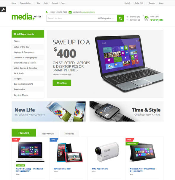 ecommerce website templates free download in html5 css3