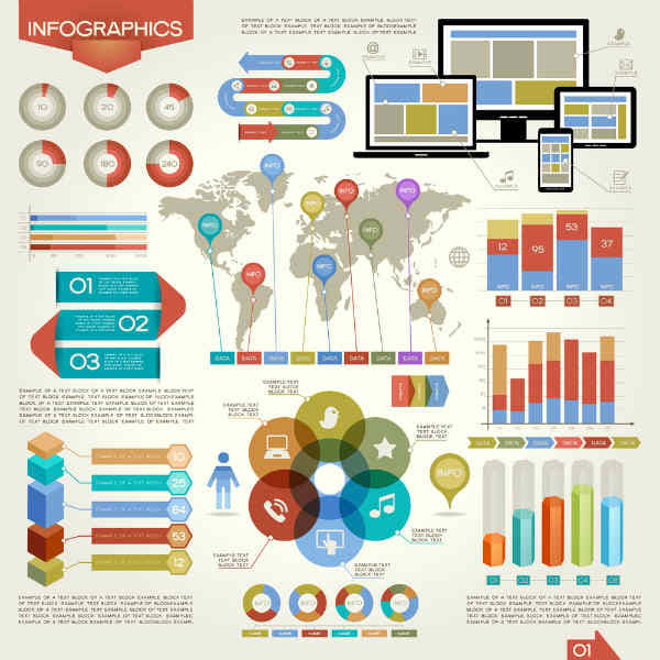 Infographic examples for ebooks