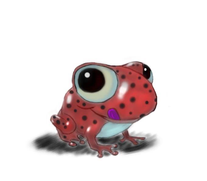 Frog digital painting