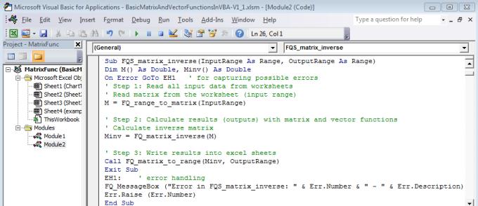 В ваше приложение будет добавлен модуль 1 2 выполните команду сервис макрос редактор visual basic