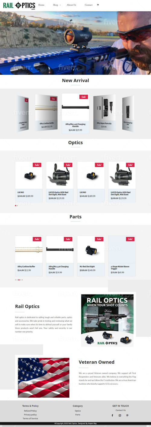 RailOptics optics and parts store
