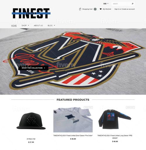 online store for Men's T-shirt
