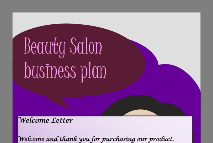 Send you a full beauty salon spa business plan by jssnetbay for A business plan for a beauty salon