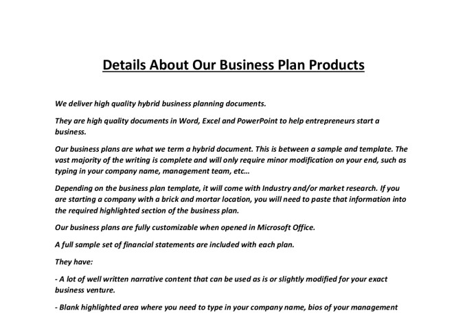 Deliver a food product business plan by jssnetbay flashek Image collections