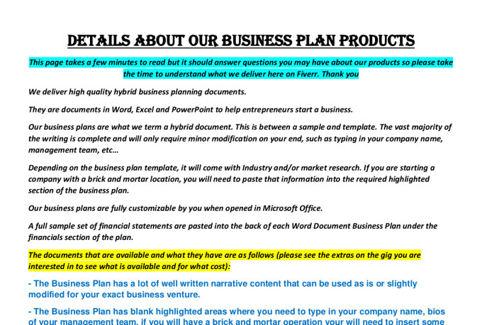 Cosmetics Company Business Plan Template Example
