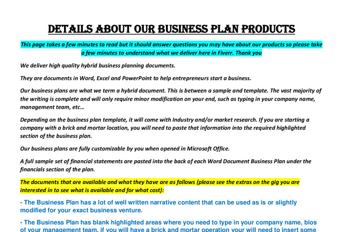 Juice bar business plan template sample fiverr flashek Gallery