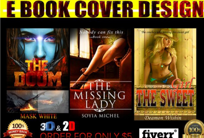 Kindle Book Cover Design Service : Design awesome e book cover kindle create space