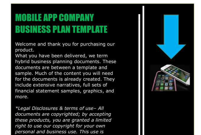 Mobile app business plan template fiverr fbccfo Image collections