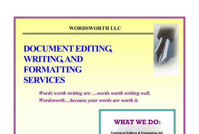 Technical Editing & Writing Services