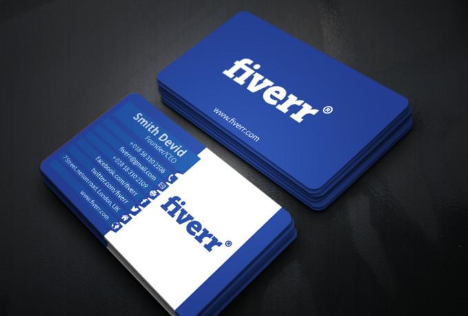 Do unique business card design fiverr for Fiverr business cards