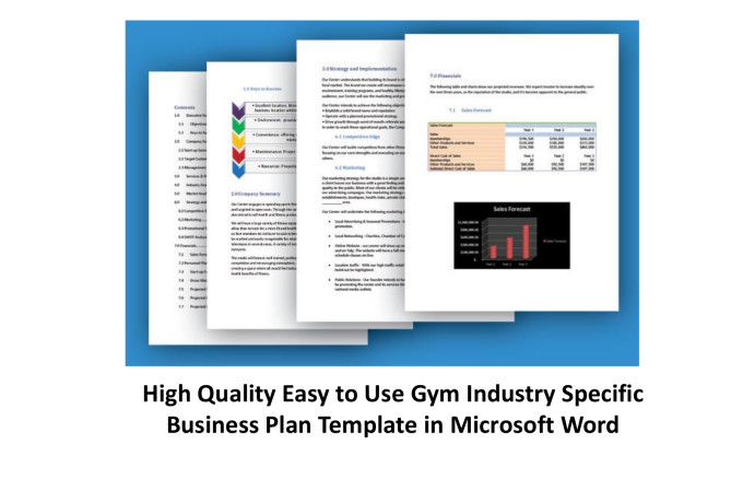 Fitness center business plan ppt example