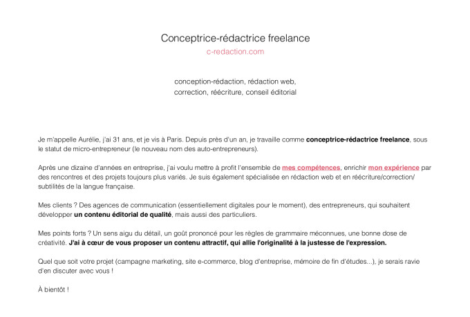 aurelie_m : I will proofread your french CV or cover letter for $25 on  www.fiverr.com