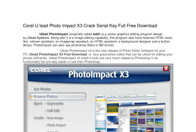 corel ulead photoimpact x3 crack