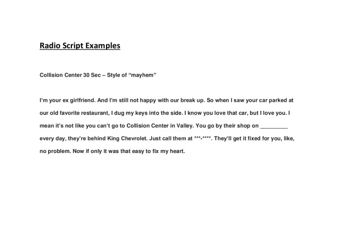 Example Television Advertisement Script The Power Of Advertisement