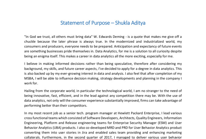 Edit personal statement