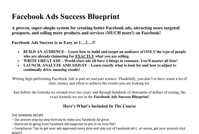 avinir : I will provide facebook ads success blueprint for $15 on  www fiverr com