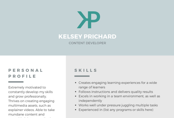 Spice up your resume in 24 hours by Kelseyprichard