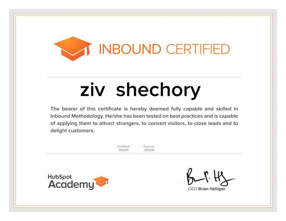 Give Hubspot Inbound Certification Exam Answers By Shechory