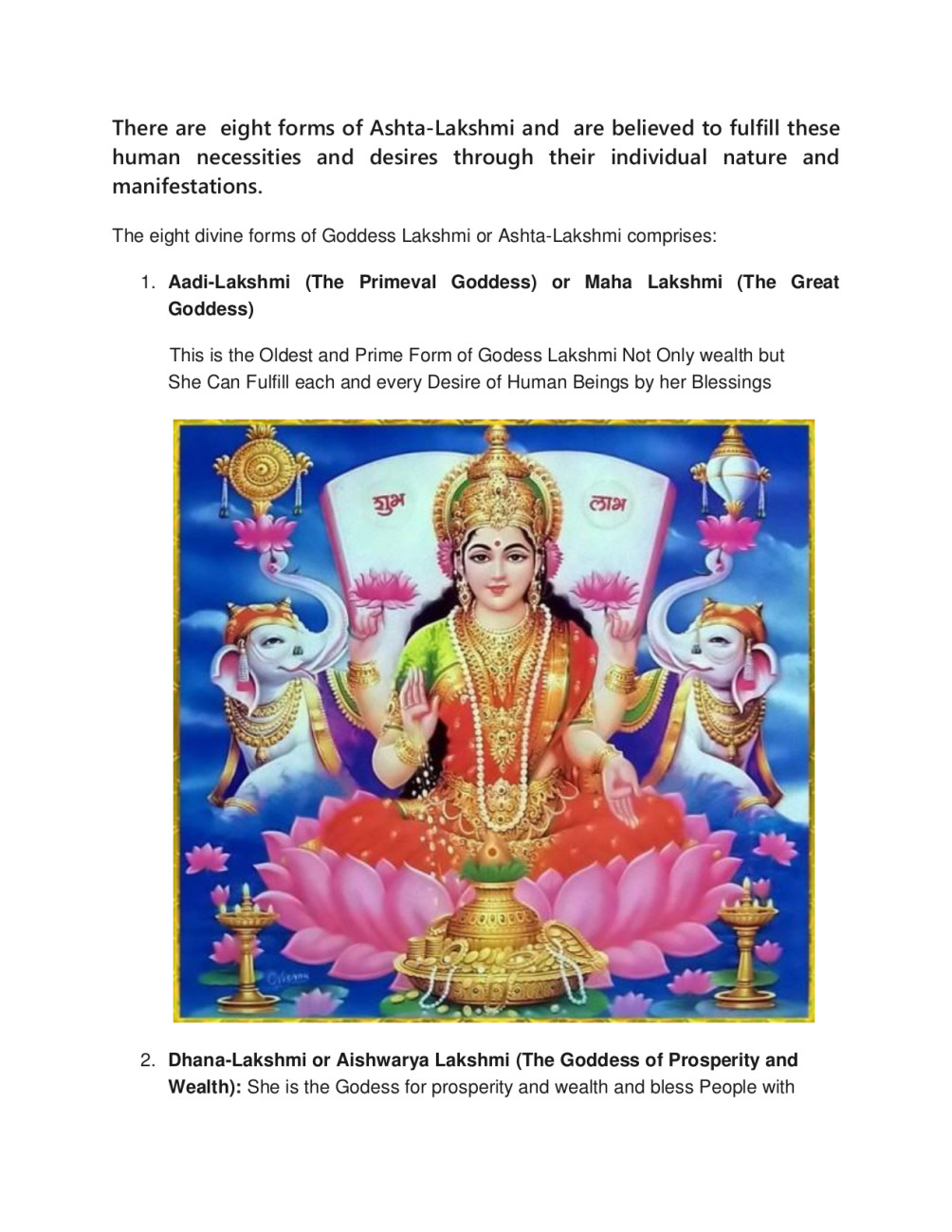 flood money and wealth by spells and lakshmi puja