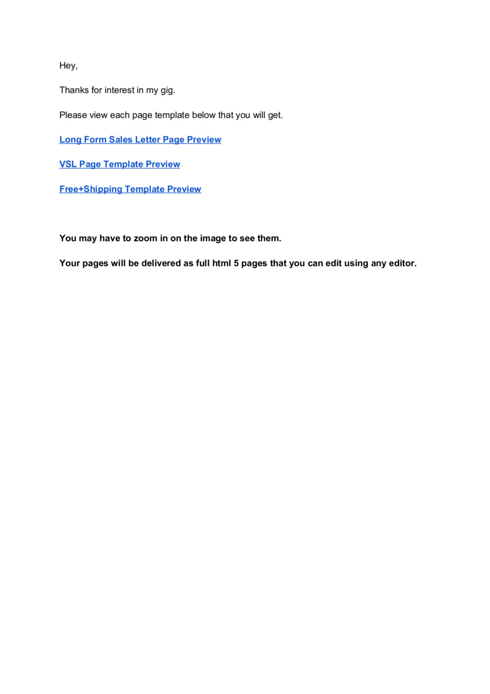 Give you 3 high quality html 5 sales page templates by jeremysteam spiritdancerdesigns Choice Image