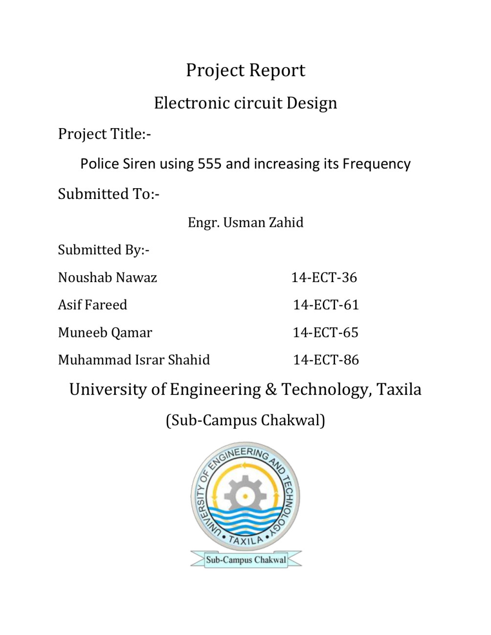 Proteus Circuit Maker And Simulation By Asiffareed256 Police Siren