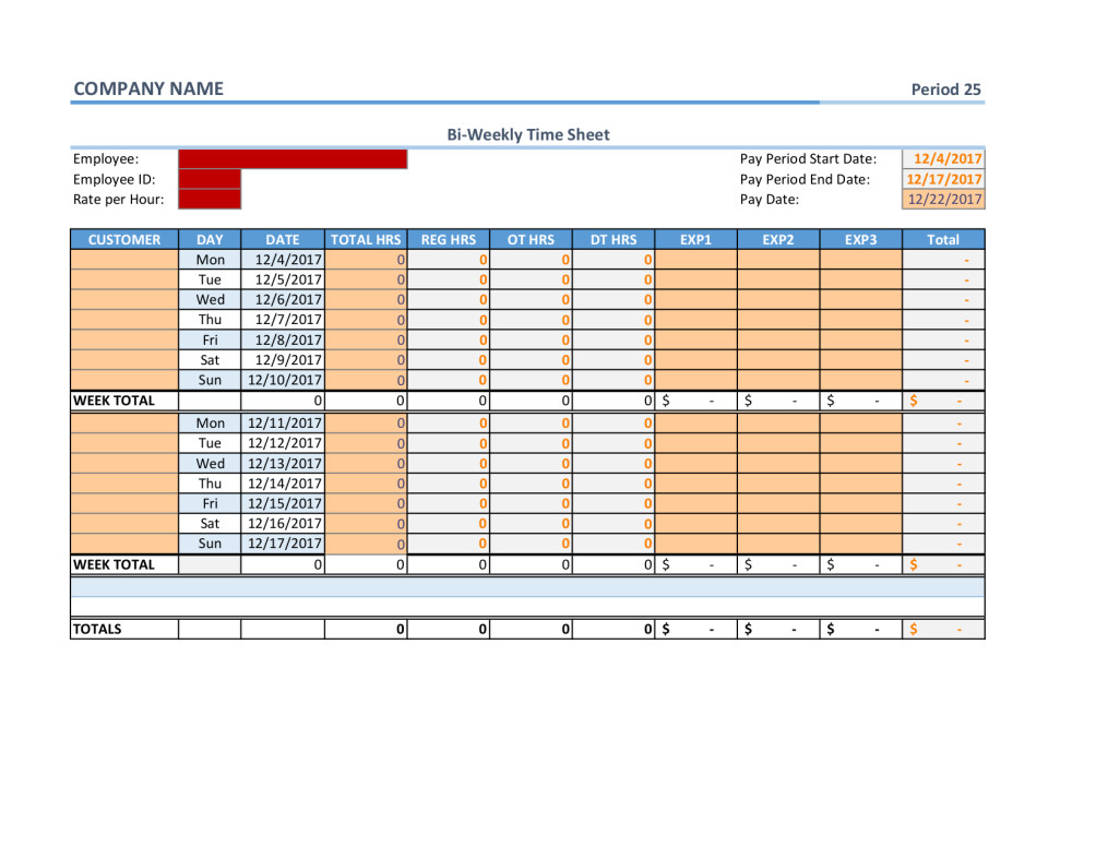 Monthly Paycheck Calculator In Excel Worksheet Excel Timesheet