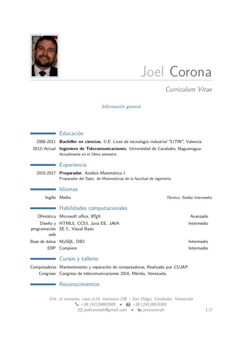 Write scientific documents and curriculum vitae by Joelcoronah