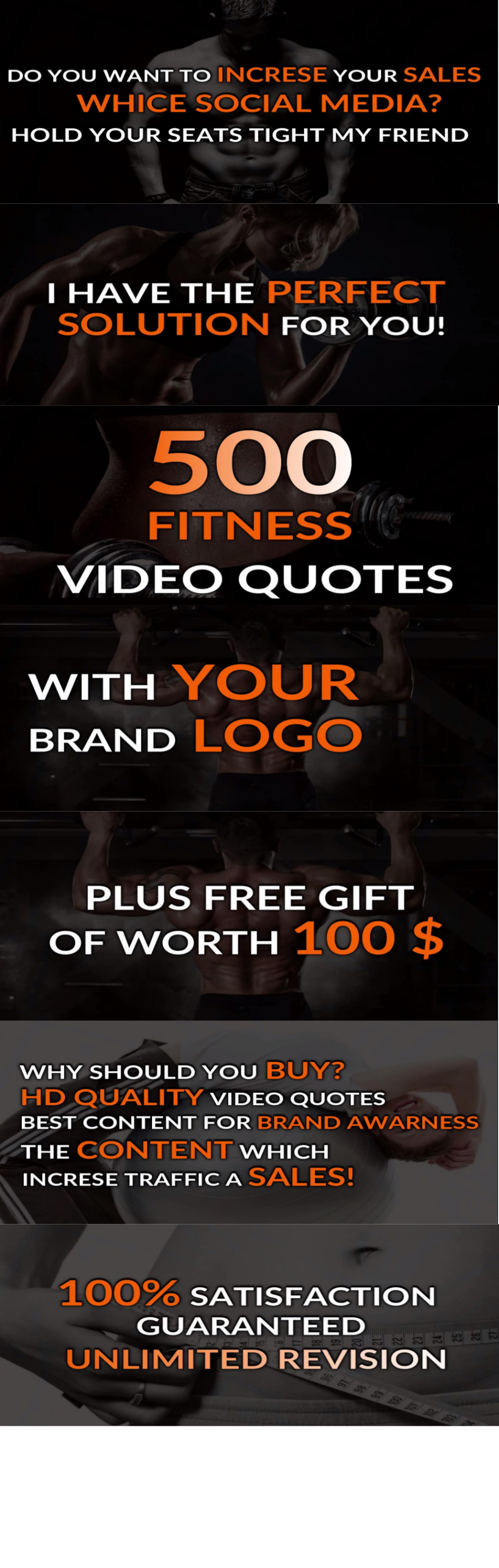 Create 500 Fitness Motivational Video Quotes With Your Brand Logo By Contentrobust