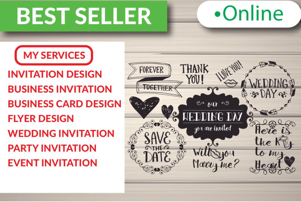 Do Wedding Invitation Design And Flyer Design By Kawser Anik
