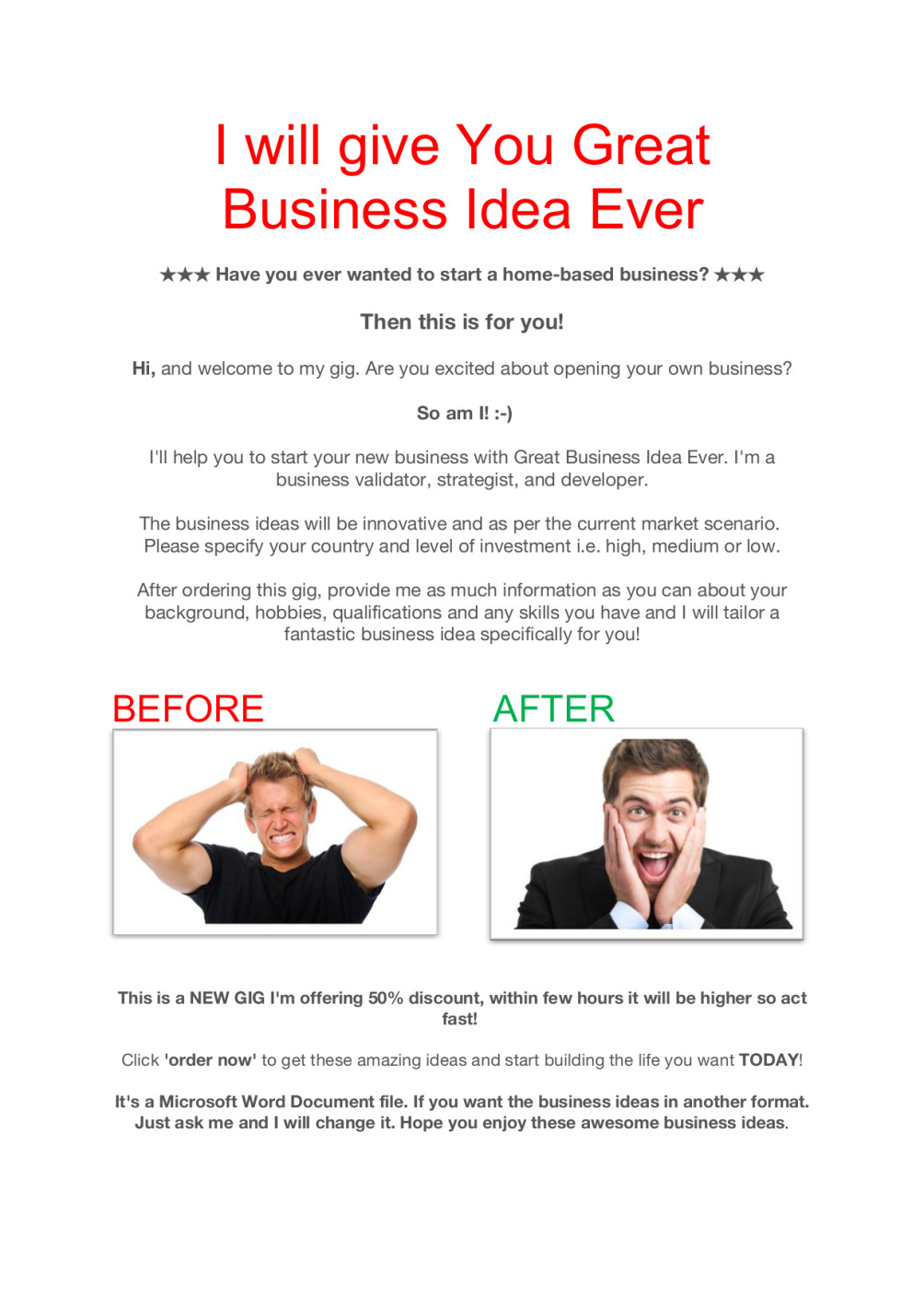 Give you great business idea ever by Obayedulislam