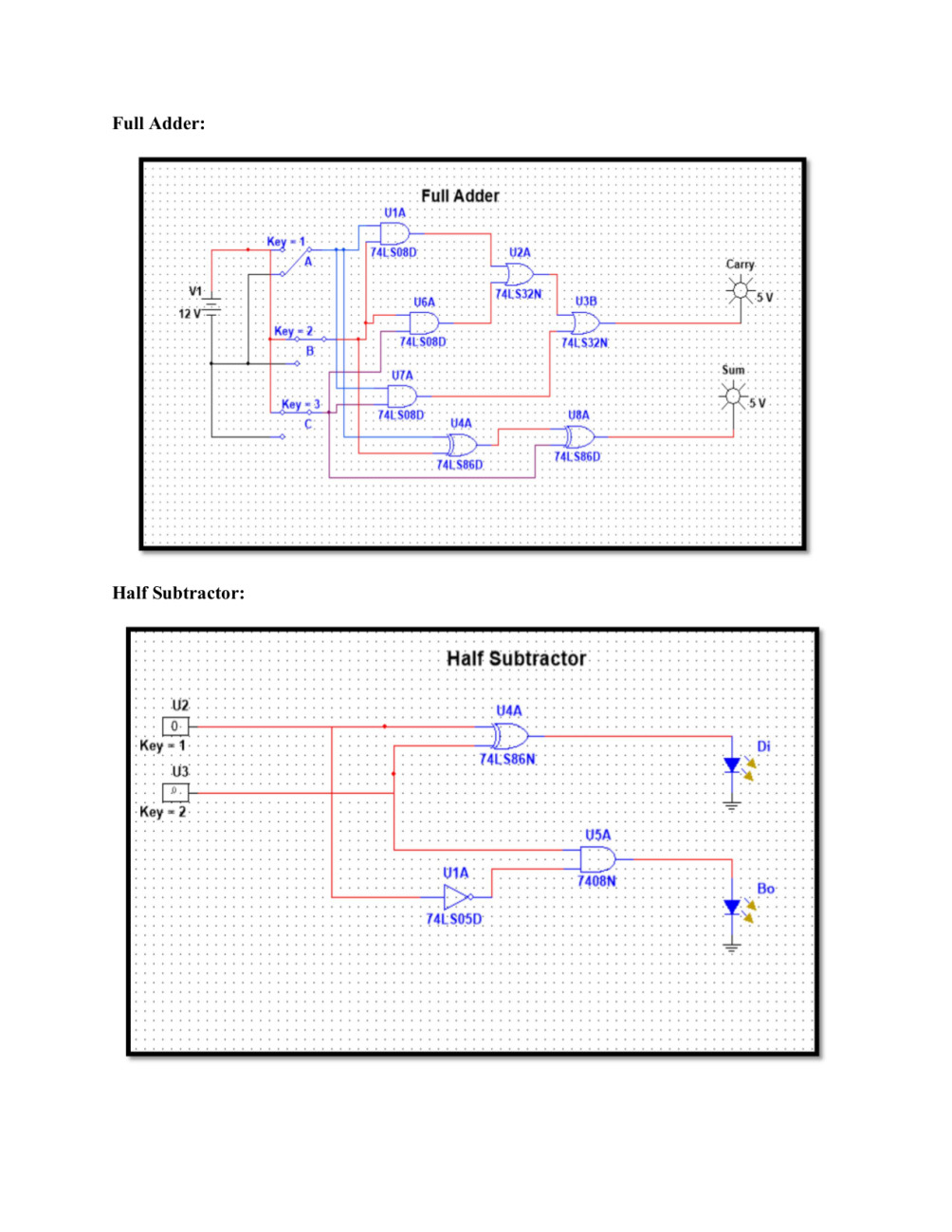 Do Help In Digital Logic Design Assignments And Quizzes By Jalpakumari Diagram Of Half Subtractor