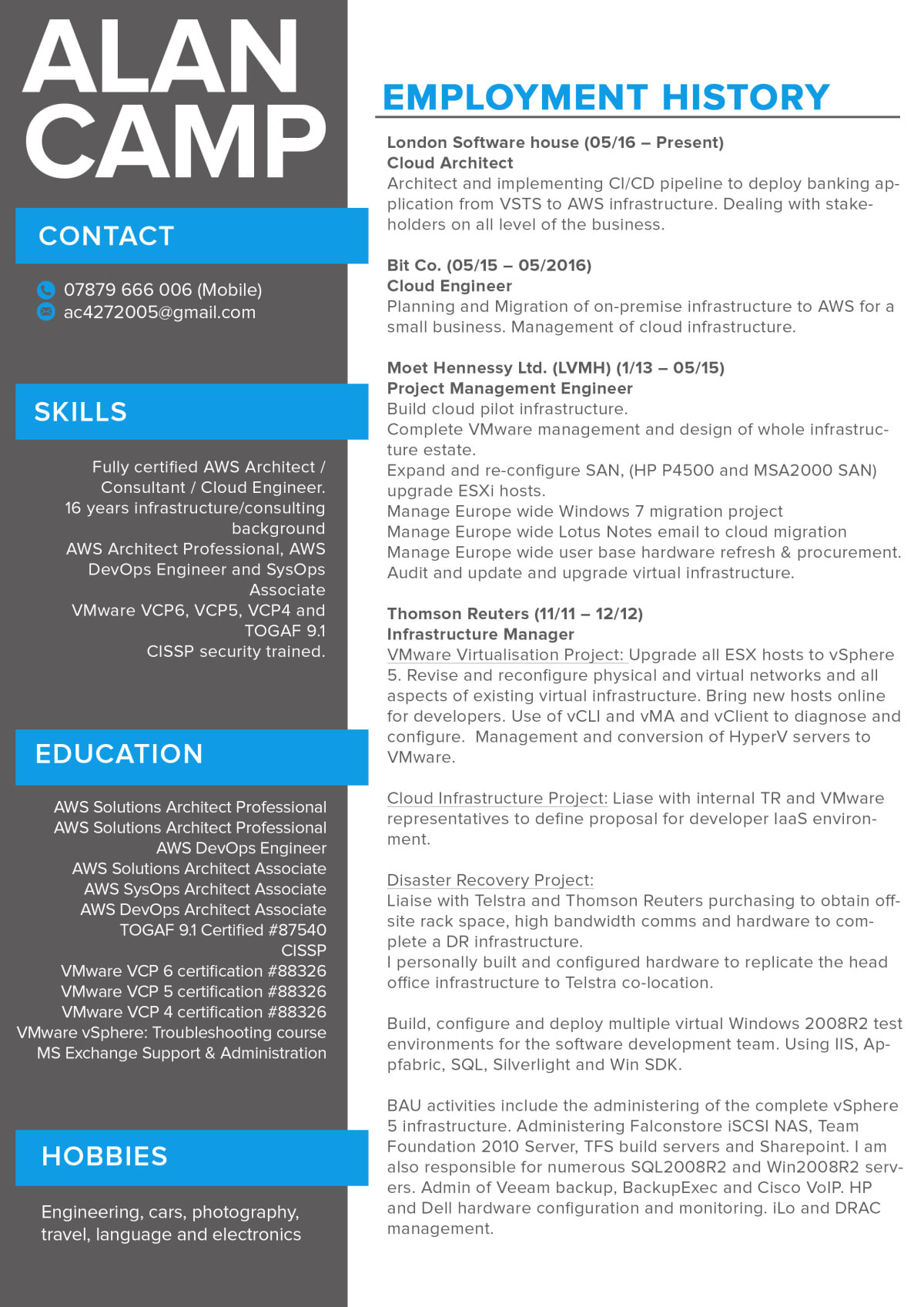 Design resume, cv, cover letter by Fiverrstar