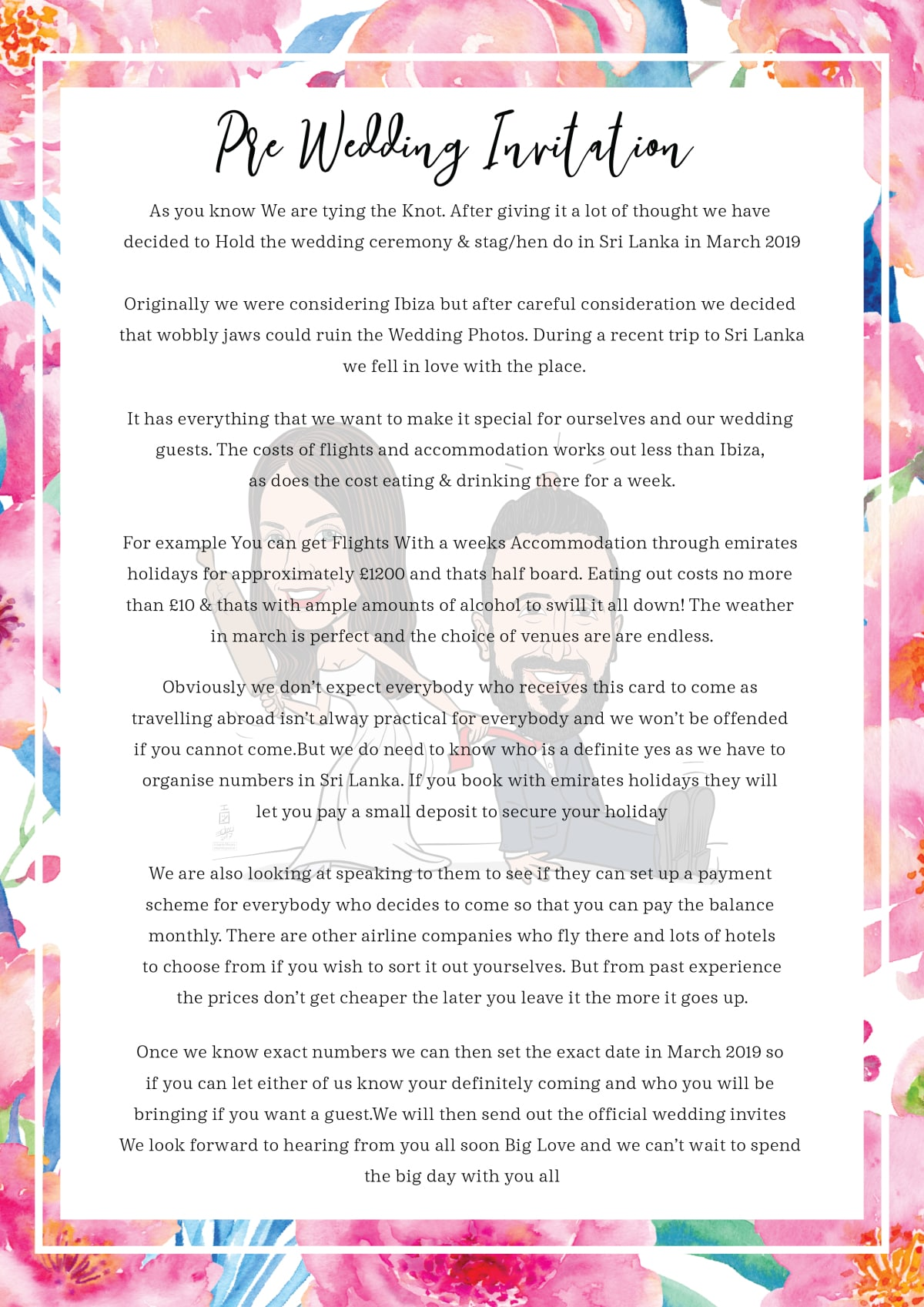 Create wedding invitation card by Theblueisland