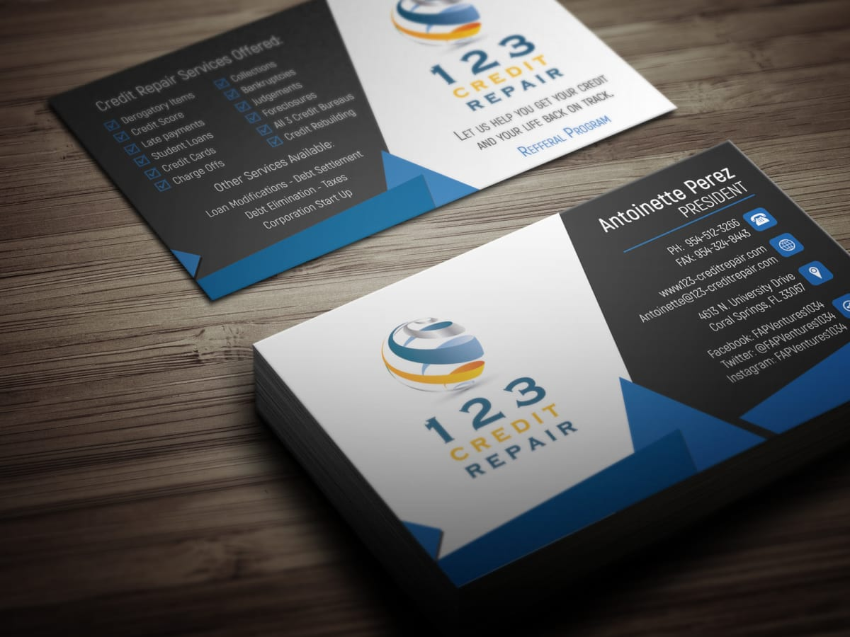 Design business card with two concepts by Huester1