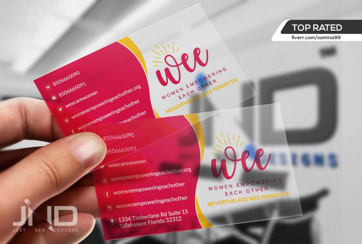 Design transparent and stylish business card by samina99 colourmoves