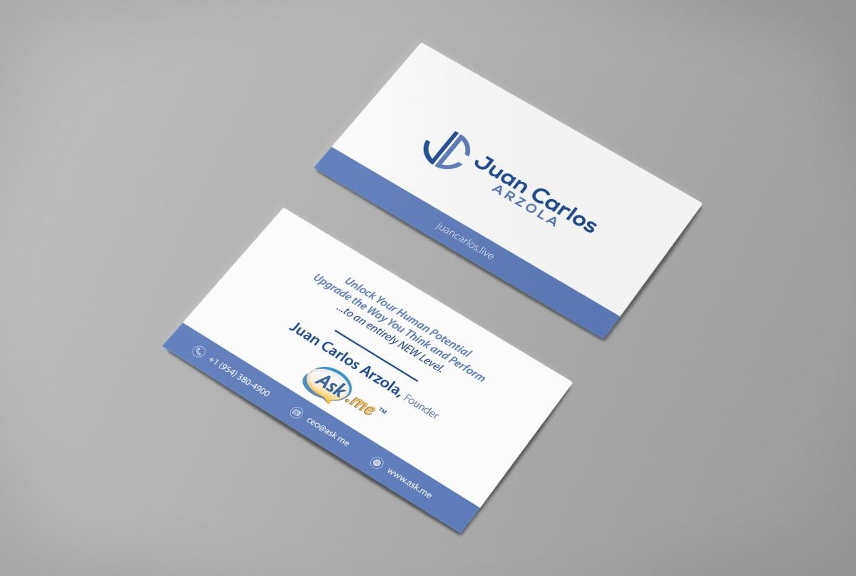 Minimal business card design fiverr colourmoves