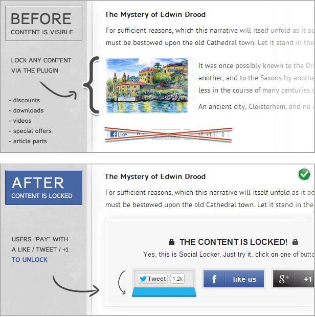give social locker for your website