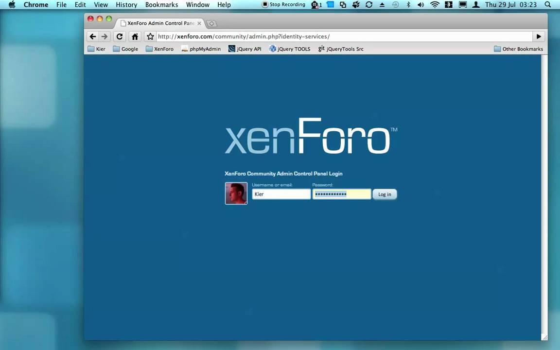 install xenforo forum, setup database