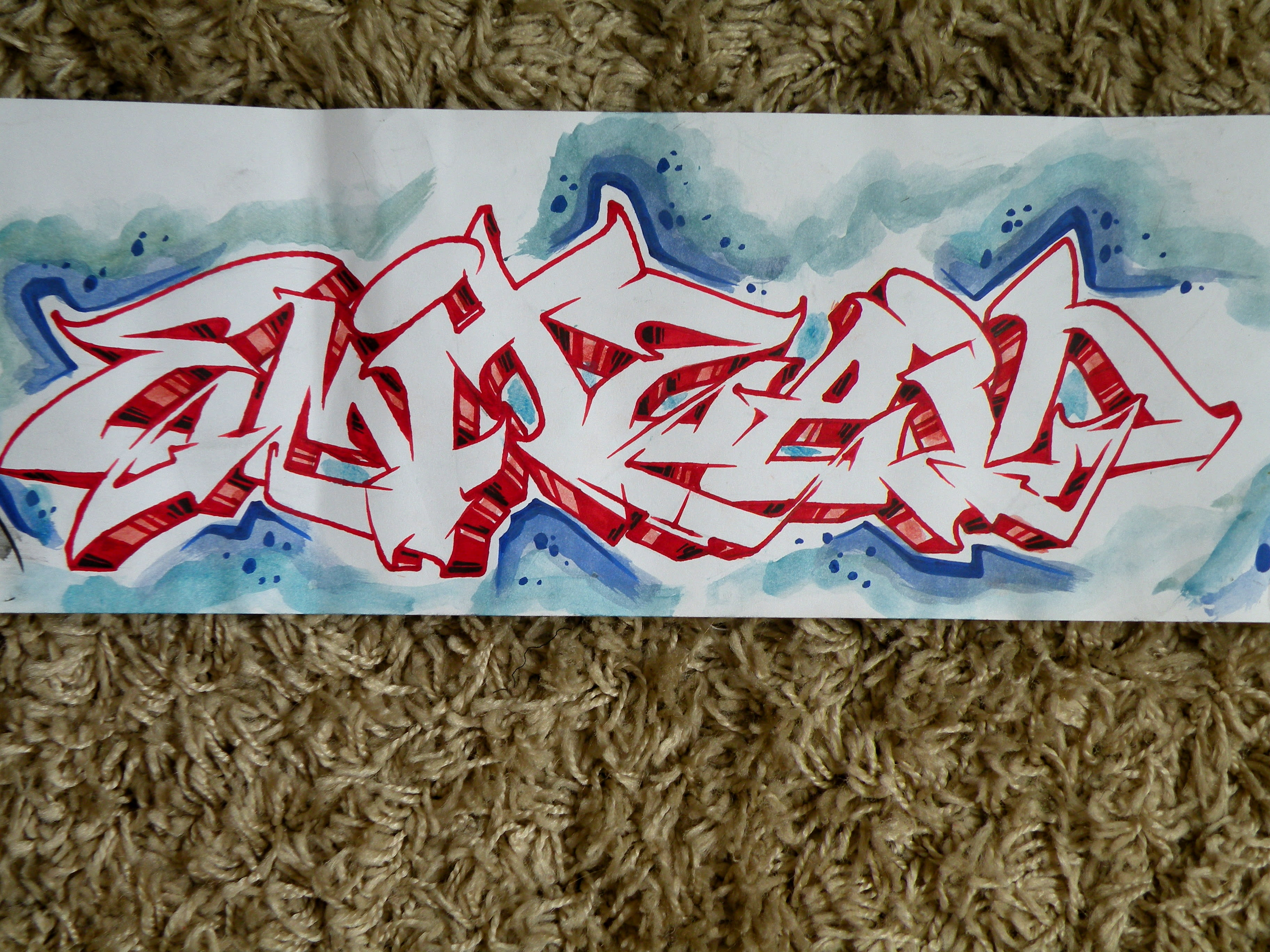 I will draw a graffiti sketch of your name