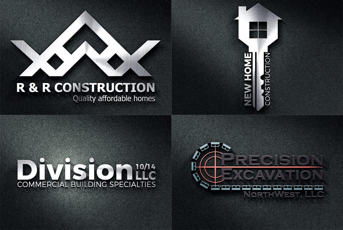 Create Real Estate Minimalist Construction Logo Design By Lexamarian124