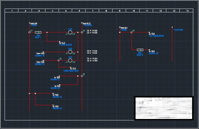 draw autocad electrical,electrical schematic ,plc,piping and instrument on