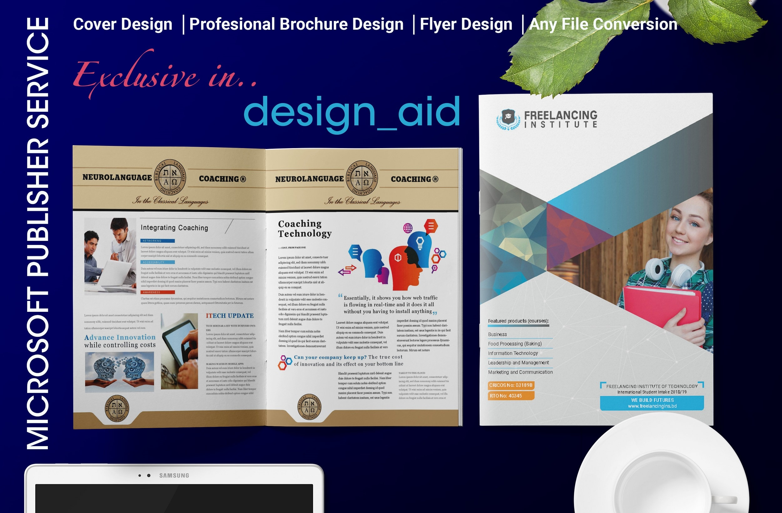 Design Microsoft Publisher Flyer Brochure Or Any Template By Design Aid