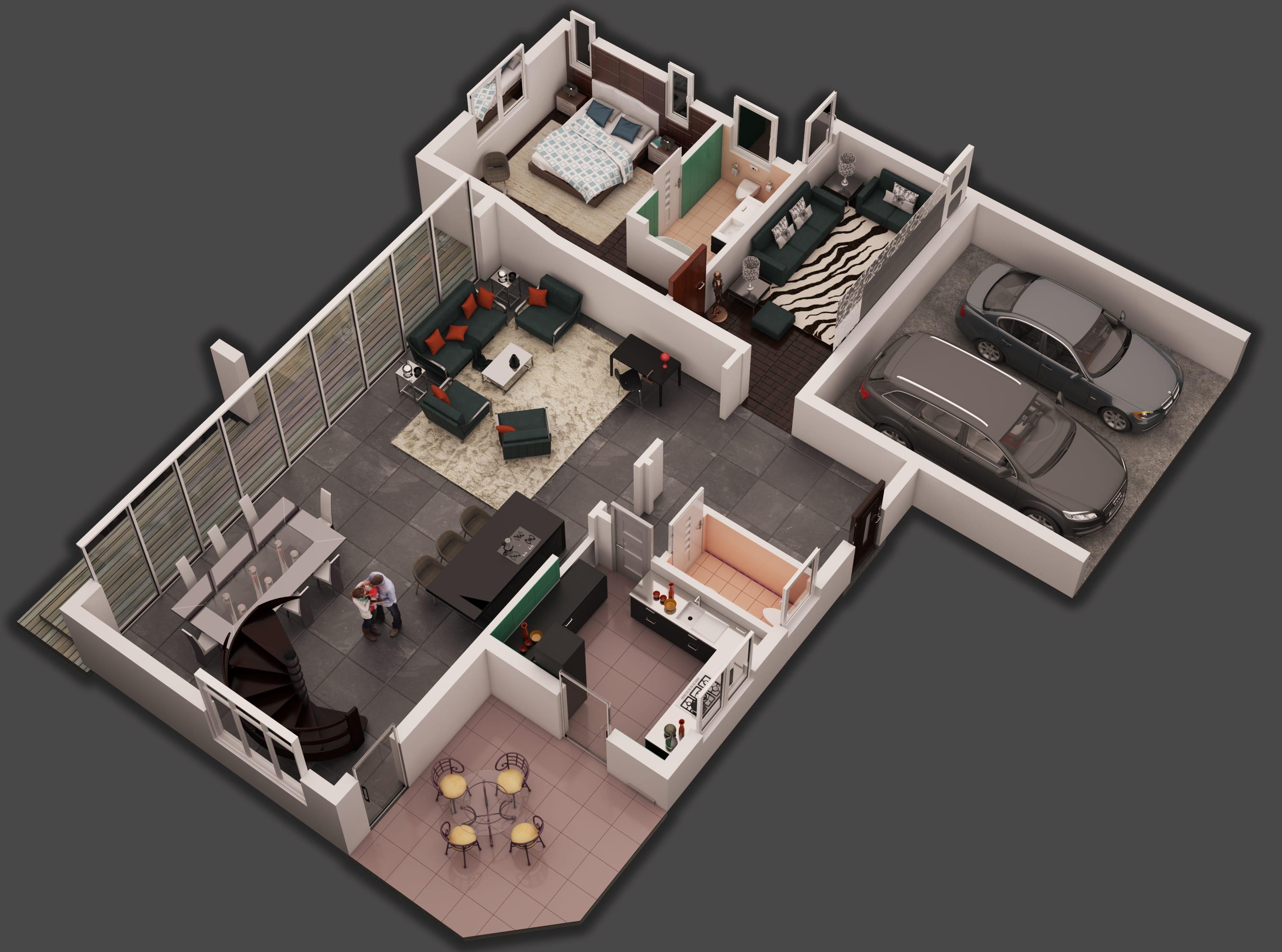 Create Professional 3d Floor Plans By Ibrahim1999q991 Fiverr